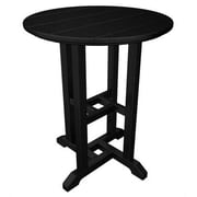 POLYWOOD  Traditional Round Dining Table; Black