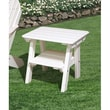 Little Cottage Company 2 Tier End Table; Bright White