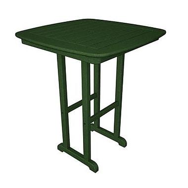 POLYWOOD Nautical Bar Table; Green