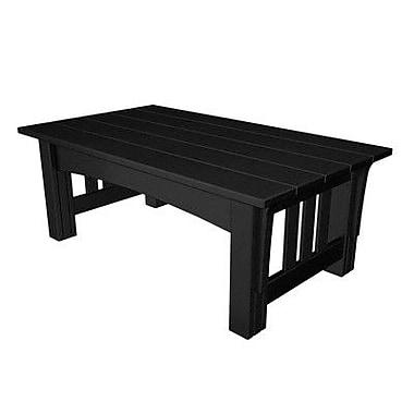 POLYWOOD Mission Coffee Table; Black