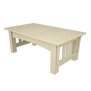 POLYWOOD Mission Coffee Table; Sand