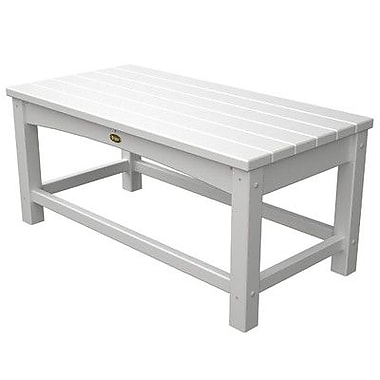 Trex Rockport Club Coffee Table; Classic White
