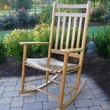 Dixie Seating Adult Indoor/Outdoor Rocking Chair (RTA); Medium Oak