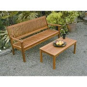 Buyers Choice Phat Tommy Serenity Wood Garden Bench; 35'' H x 62'' W x 29'' D