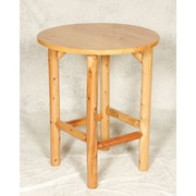 Moon Valley Rustic Bistro Table; Amber Varnish