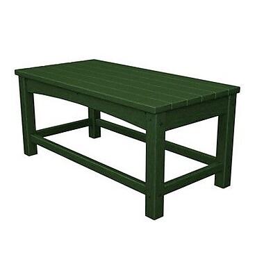 POLYWOOD Club Coffee Table; Green