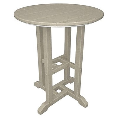 POLYWOOD Traditional Dining Table; Sand