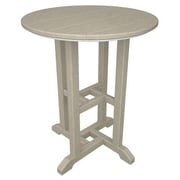 POLYWOOD  Traditional Round Dining Table; Sand