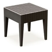 Compamia Miami Square Resin Side Table; Brown