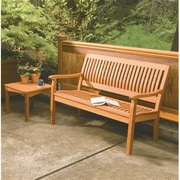 Buyers Choice Phat Tommy Serenity Wood Garden Bench; 34'' H x 48'' W x 29'' D