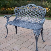 Oakland Living Tea Rose Aluminum Garden Bench; Verdi Grey