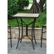 International Caravan Barcelona Wicker Resin/Aluminum Patio Table; Black Antique