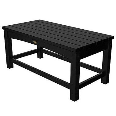 Trex Rockport Club Coffee Table; Charcoal Black