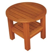 Blue Star Group Terrace Mates Two Shelf High Round Side Table