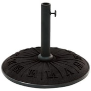 International Caravan Resin Free-Standing Umbrella Stand; Black