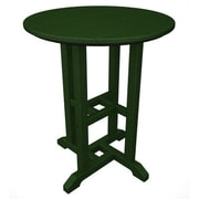 POLYWOOD  Traditional Round Dining Table; Green