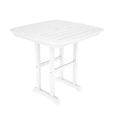 POLYWOOD Nautical Dining Table; White