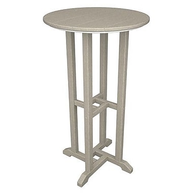 POLYWOOD Traditional Bar Table; Sand