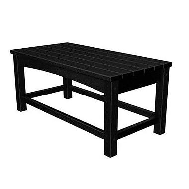 POLYWOOD Club Coffee Table; Black