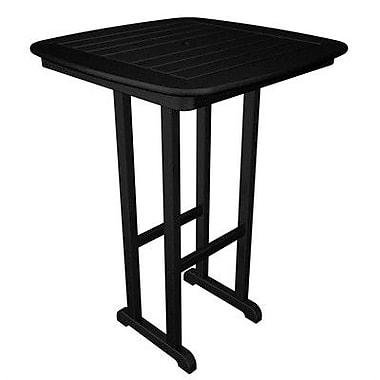 POLYWOOD Nautical Bar Table; Black
