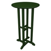 POLYWOOD  Traditional Round Bar Table; Green