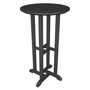 POLYWOOD Traditional Bar Table; Slate Grey