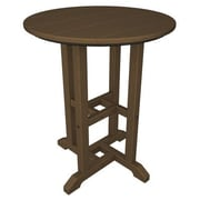 POLYWOOD  Traditional Round Dining Table; Teak