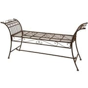 Oriental Furniture Rustic Iron Garden Bench; Rust Patina