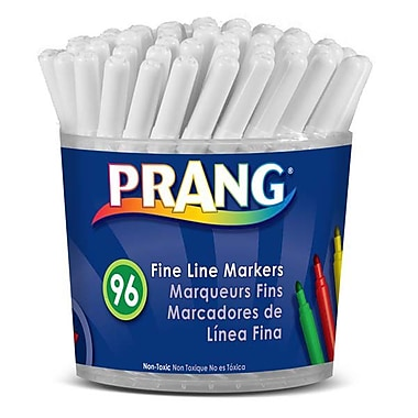 Prang® Classic Washable Fine Line Markers, 2.8mm, Assorted, 96/Pack