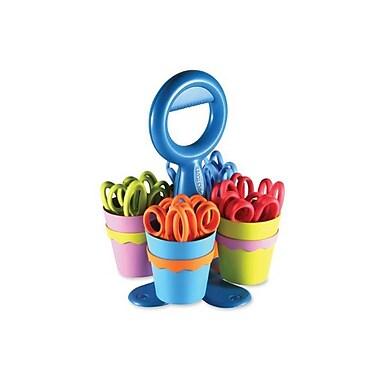 KleenEarth® - Ciseaux avec Microban® aux pointes émoussées pour enfants, 5 po, avec boîte de rangement, couleurs variées, paq./2