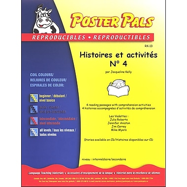 French Reproducible Teaching Activities for the FSL Classroom -histoires et activités No. 4
