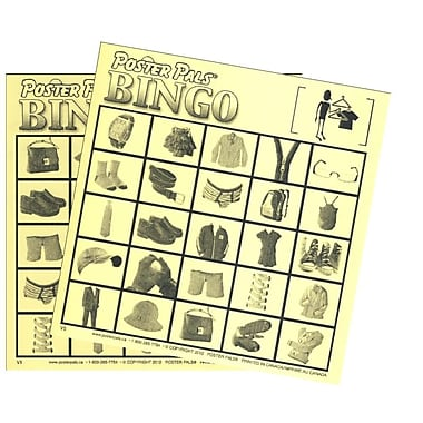 French Bingo - Clothes