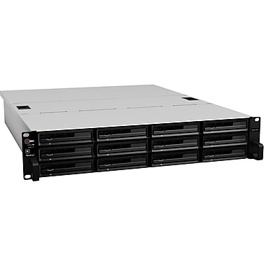 Synology® RackStation 48TB High-Performance and Scalable 12-Bay NAS Server (Black)