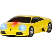 Road Mice™ Lamborghini Murcielago Car Wireless Optical Mouse, Yellow