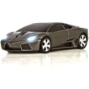 Road Mice™ Lamborghini Murcielago Car Wireless Optical Mouse, Gray