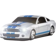 Road Mice™ Ford Shelby Car GT500 Wireless Optical Mouse, Silver/Blue Stripes