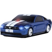Road Mice™ Ford Mustang Car Wireless Optical Mouse, Blue/White Stripes