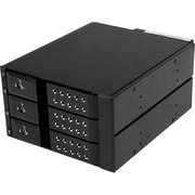 Startech.com® HSB3SATSASBA 3 Bay Trayless Hot Swap Mobile Rack Backplane F/3.5 SASII/SATAIII