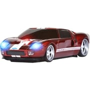 Road Mice™ Ford GT Car Wireless Optical Mouse, Red/White Stripes