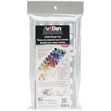 Artbin® Super Satchel™ 32 Slot Glitter Glue Tray, White