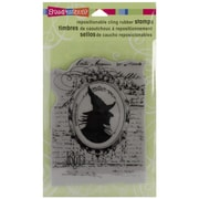 "Stampendous® 4"" x 5 1/4"" Halloween Cling Rubber Stamp, Mirror Mirror"
