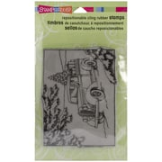 "Stampendous® 4"" x 5 1/4"" Christmas Cling Rubber Stamp, Truck Of Gifts"