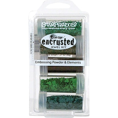 Stampendous® Encrusted Jewel Kit, Green, 5/Pack