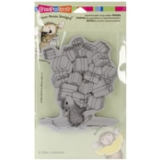 "Stampendous® 4"" x 5 1/4"" House Mouse Cling Rubber Stamp, Gifts Galore"
