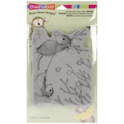 "Stampendous® 4"" x 5 1/4"" House Mouse Cling Rubber Stamp, Reindeer Games"