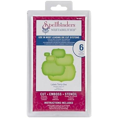 Spellbinders® Nestabilities® Die, Labels 31