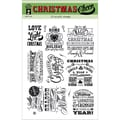 Hot Off The Press 6in. x 8in. Acrylic Stamp Sheet, Christmas Cheer