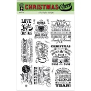 "Hot Off The Press 6"" x 8"" Acrylic Stamp Sheet, Christmas Cheer"