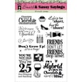 Hot Off The Press 6in. x 8in. Acrylic Stamp Sheet, Smart and Sassy Sayings