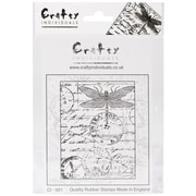 Crafty Individuals 71 mm x 95 mm Unmounted Rubber Stamp, Dragonfly Post